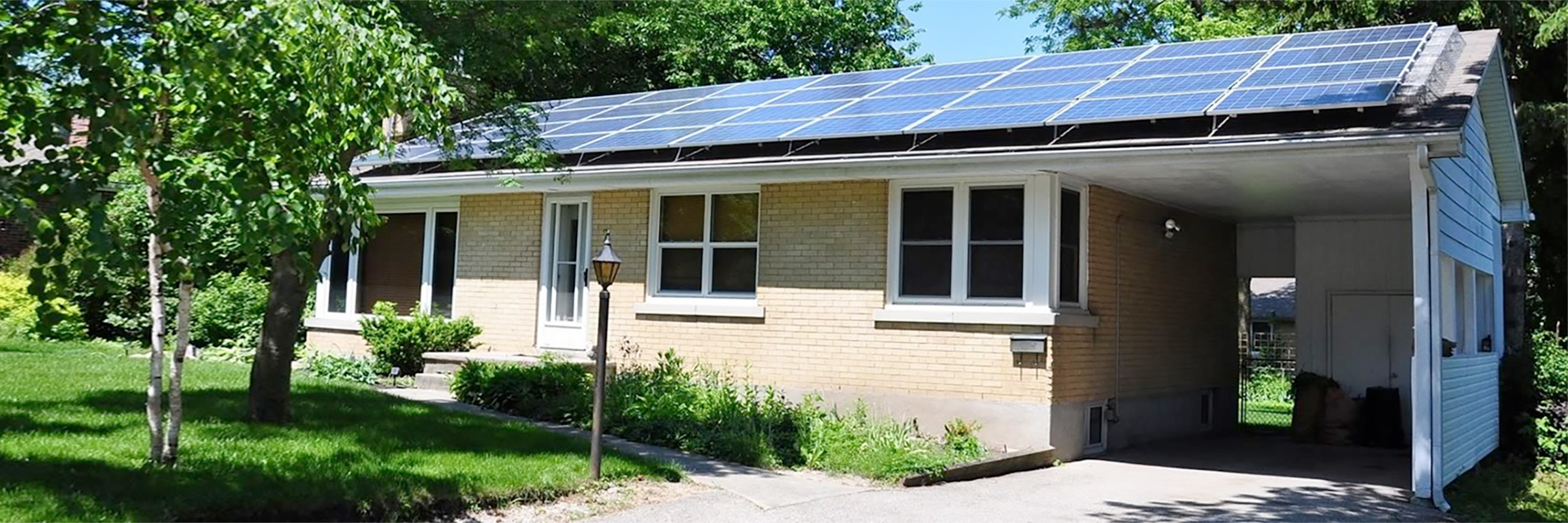 Home with solar