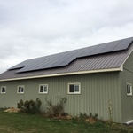 Solar on a barn Ontario
