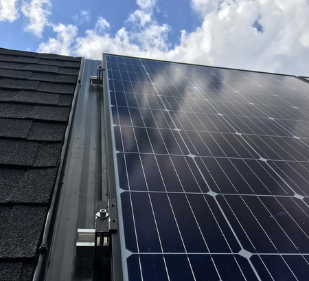 Solar on metal roof